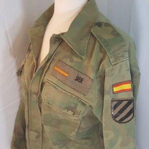 Stylish Genuine Military Camo Jacket Oversized